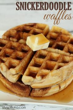 Snickerdoodle Waffles are delicious and perfect for breakfast, lunch or dinner!