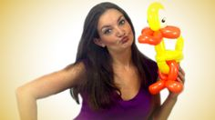 Learn how to make a Duck balloon animal