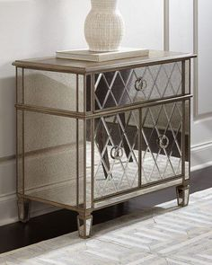 Shop Savoy Mirrored Chest at Horchow, where you'll find new lower shipping on hundreds of home furnishings and gifts. Mirrored Bedroom Furniture, Cabinet Furniture, Rustic Furniture, Modern Furniture, Living Room Cabinets, Furniture Styles, Luxurious Bedrooms, Adjustable Shelving, Home Furnishings