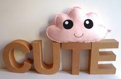 Pale Pink Cloud Softie  Kawaii Cloud  Felt Soft Toy by LilyRazz