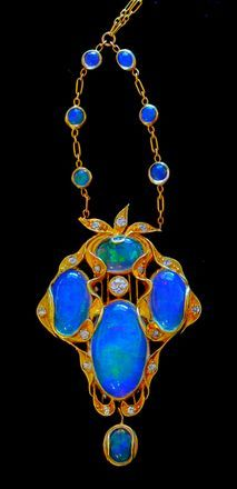 beautyblingjewelry:  Art Nouveau opals an fashion love upright vacuum