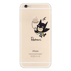 Amazon.com: iPhone 6/6s clear Case, batman. Use coupon ZH24XIMZ, only $2.99 free shipping.