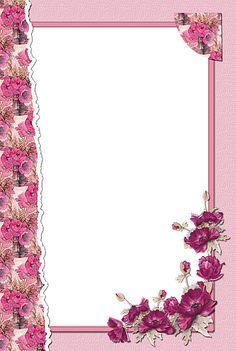Transparent Flower Pink Frame