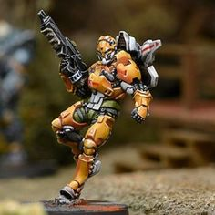 Infinity Yu Jing Tiger Soldier - Boarding Shotgun (1) Sci Fi Miniatures, Warhammer 40k Miniatures, Infinity Models, Corvus Belli Infinity, Miniature Wargames, Noble Knight, Infinity The Game, Warhammer Paint, Imperial Assault