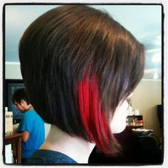 This is what I want but red hair and a blonde streak.