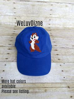 cc354ebf Chip Applique Hat by WeLuvDizne Chip and Dale Chipmunk Donald Duck birthday Disney  vacation matching family shirts by WeLuvDizne