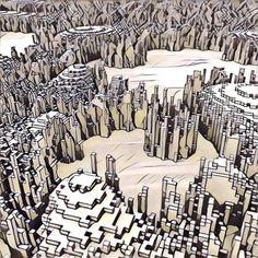 #voxelart #magicavoxel #render #3d #abstract #random #speedbuild #landscape #mountains #fractal