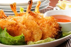 Baked Coconut Shrimp with Spicy Apricot Dipping Sauce. 110 Calories. Chef Donatella Arpaia's Low-Calorie Recipes