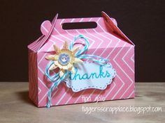 This box is so super easy and quick with the cartridge. No glue required except for the embellishments of course. I used one of the stamp sets and another ...