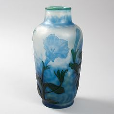 French Art Nouveau Cameo Glass Vase by Daum, available exclusively at Macklowe Gallery.