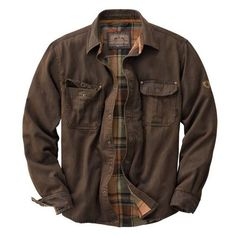 Men's Journeyman Rugged Shirt Jacket | Legendary Whitetails ($70) ❤ liked on Polyvore featuring men's fashion, men's clothing, men's outerwear, men's jackets, men, jackets, menswear, button down, coats and mens leather jackets