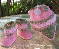 Crochet Baby Booties  Hat – Free Crochet Pattern