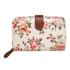 fa236f2f869 Kingswood Rose Folded Zip Wallet with Leather Cath Kidston Wallet, Cath  Kidston Bags, Zip