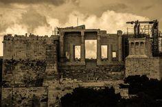 ATHENS ACROPOLIS The Propylaea by Costas Dais