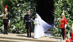 When Prince Harry married actresss Meghan Markle she became the first American to marry into the royal family since Royal Wedding Harry, Harry And Meghan Wedding, Meghan Markle Prince Harry, Prince Harry And Megan, Prince Henry, Prince Charles, Royal Brides, Royal Weddings, Evening Wedding Receptions