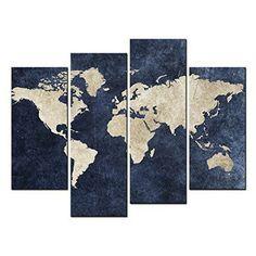 Save 10 rustic world map world map on wood grain by wordbirdshop navy is the new black using navy as a neutral in your apartment decor gumiabroncs Choice Image