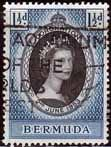 Bermuda Queen Elizabeth II 1953 Coronation Fine Used SG 134 Scott 142 Other West Indies and British Commonwealth Stamps HERE!