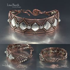 Hand woven bracelet in copper and I put sterling accents in there.  I wrote a book about this technique so if you'd like to learn how you sure can.  https://www.amazon.com/Timeless-Wire-Weaving-Complete-Course/dp/1627000763/ref=sr_1_1?ie=UTF8&qid=1407288793&sr=8-1&keywords=timeless+wirework