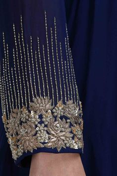 Aneesh Aggarwal. Navy blue embroidered ...