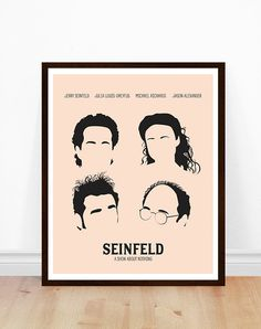 Seinfeld Print Seinfeld Poster Minimalist by PoppermostPrints