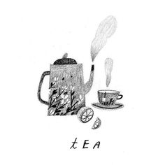 February 27 28 & 29 :: Trifecta! Part 3: Tea!  More on the blog and on Flow Magazine's Pinterest Board today! by rebeccagreenillustration