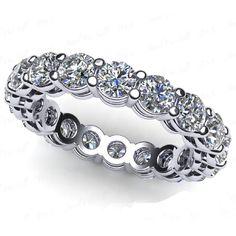 3.00 Ct. Mémoire Blanc Diamants Bague de Or 18K VS2/F