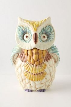 such a cute little owl canister for my counter