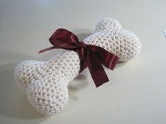 crocheted dog bone ~ pattern.