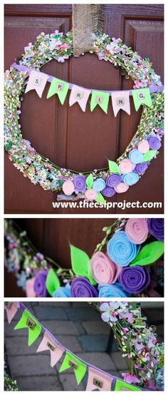 Fun wreath idea!