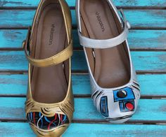 Star Wars C3PO and R2D2 Painted Shoes! Use THIS link: http://www.instructables.com/id/Star-Wars-C3PO-and-R2D2-Painted-Shoes/