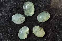 77 Ct Wholesale lot 5 Pcs Natural Awesome Prehnite Gemstone Oval Cabochon R0819 by JAIPURARTMART on Etsy