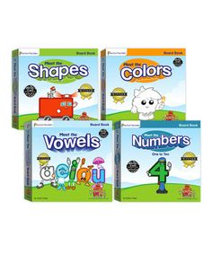 Winner of over 25 awards, the incredible and educational Preschool Prep series is used in thousands of preschool and kindergarten classrooms around the country. Now young learners can get a head start at home, beginning when they're just 9 months old! Engaging characters lead the way through this entertaining set of board books designed to help tots master letters, numbers, shapes and colors before they even begin to speak.