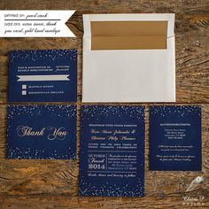 Starry Night Wedding Invitation Printed Chalkboard by chitrap