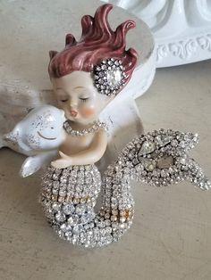 Your place to buy and sell all things handmade Mermaid Purse, Cute Mermaid, Vintage Mermaid, Baby Mermaid, Mermaid Dolls, Vintage Costume Jewelry, Vintage Jewelry, Shabby Chic Farmhouse, Mermaids And Mermen