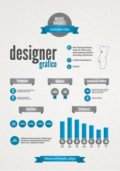 Curriculum Vitae by Micael Marques, via Behance