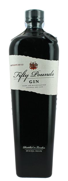 Hammer & Sons, Gin Fifty Pounds #packaging #spirits #gin