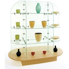 The glass shelving unit is simple and easy to build. This showcase includes the chrome connectors. The glass shelving unit is x x (W x D x H). Glass Shelving Unit, Glass Shelves Kitchen, Shelf Units, Shelves Above Toilet, Shower Shelves, Store Fixtures, Wall Fixtures, Gondola Shelving, Glass Showcase