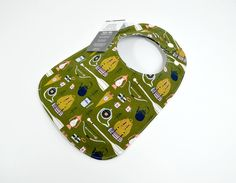 Baby bib, Gender Neutral Baby, camping, hiking, outdoors, woodland, adventure, backpack, 100% cotton, triple layered, fits 3 mths to 2 yrs + by TextileTrolley on Etsy
