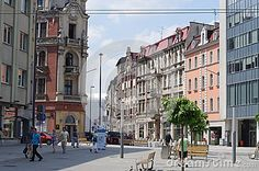 Photo about Katowice s market square dates to late century. View towards the train station. Image of history, landmark, historical - 55298148 Train Station, Poland, Dates, 19th Century, Street View, Stock Photos, Marketing, Country, City