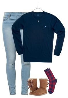 """QOTD"" by meljordrum ❤ liked on Polyvore featuring Tommy Hilfiger, Jane Norman, UGG Australia, Southern Tide, women's clothing, women, female, woman, misses and juniors"