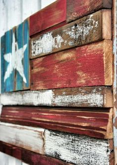 Reclaimed Wood Flag: DIY this with and Wood Wood, Reclaimed Wood Wall Art, Reclaimed Wood Projects, Wood Art, Diy Wood, Repurposed Wood, Wooden Projects, Pallet Crafts, Pallet Art
