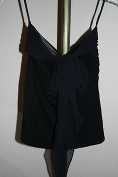 Woman's Arden B black strapless top, Size Medium, Pre-owned