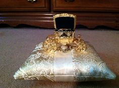 Ring Bearer Pillow with Cinderella carriage box! Love!