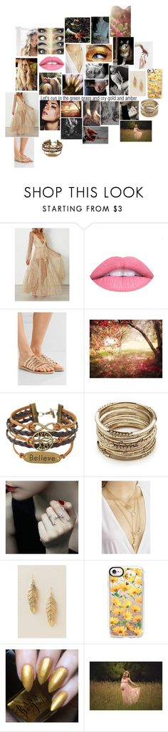 """""""Norse mythology ~ Freyja The golden lady"""" by rosemarieyoung ❤ liked on Polyvore featuring For Love & Lemons, WithChic, L.A. Girl, Ancient Greek Sandals, Peace and Love by Calao, Sole Society, Yeprem, Francesca's, Casetify and Letitia"""