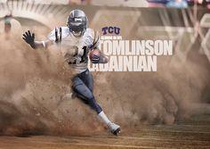 NCAA ALUMNI IN NFL ART WITH TOMLINSON LADAINIAN