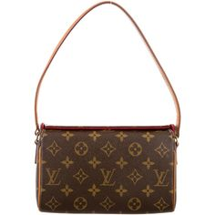 Pre-owned Louis Vuitton Monogram Recital Bag ($395) ❤ liked on Polyvore featuring bags, handbags, shoulder bags, white shoulder bag, man bag, white purse, handbags shoulder bags and coated canvas handbags