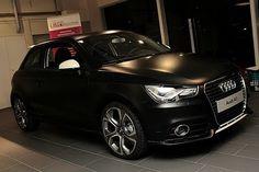 Matte black Audi A1 S line. Lush <3
