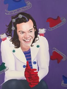 Harry Styles- Who Series by Jessica Lepore  Oil Painting, 2015