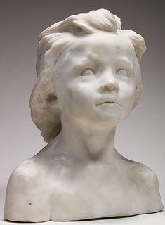 CAMILLE CLAUDEL La pequeña castellana (trenza curva gruesa). 1892-1896 Mármol 1895. Musée Rodin, París