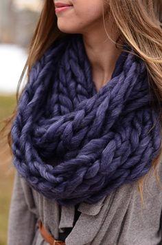 Soft as Silk Scarf - Indigo
